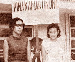 Liliosa Hilao (right) was a scholar and activist, the first to be murdered under martial law. (Courtesy of WikiPilipinas)