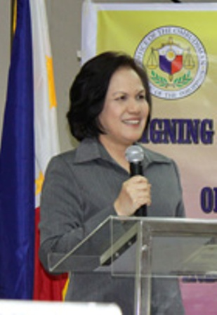 Ombudsman Merceditas Gutierrez. Photo from the Ombudsman's official website.