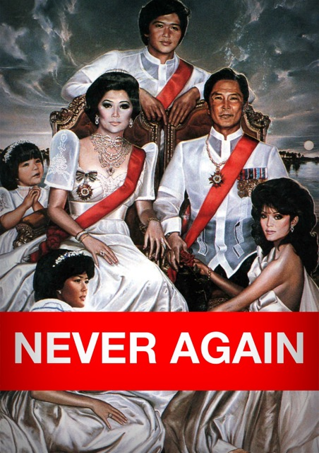 42 years ago, Marcos imposed his fantasy monarchy and barbaric martial law on the Philippines. NEVER AGAIN.