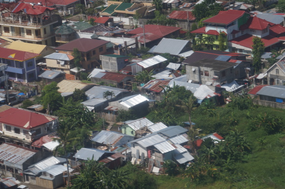 Another bird's eye view photo of a portion of Tacloban City. Taken last Nov. 4, 2014.