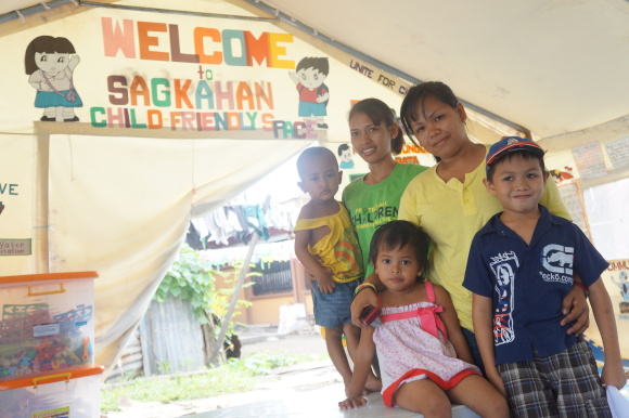 This tent is called Child-Friendly Space and is located at Barangay 62, Tacloban City.